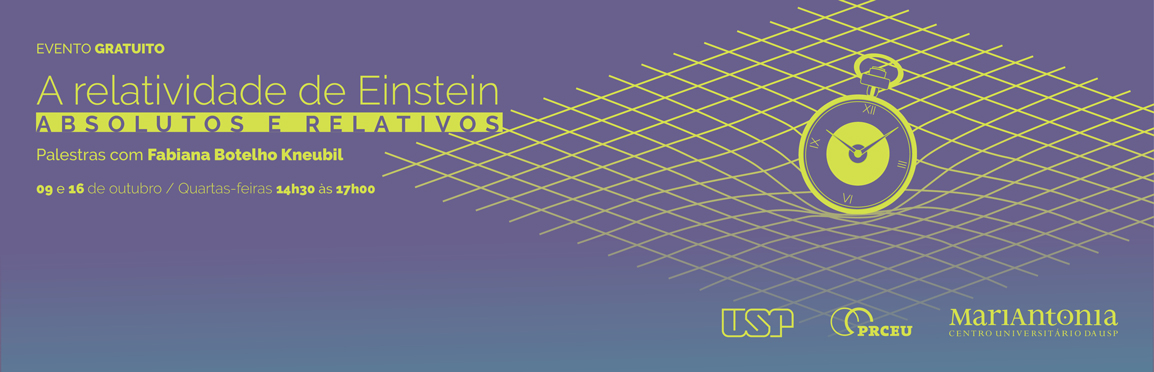 "Palestras ""A relatividade de Einstein"""